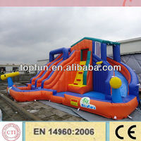 cheap outdoor giant inflatable water pool slide for kids and adults