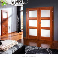 solid wood sapele contemporary thermal double entry doors interior doors