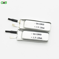 high rate 20c slim size 3.7v 120mah lithium polymer battery 501132