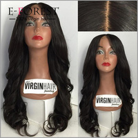 New Arrival Swiss Lace Silk Wig Cap Virgin Brazilian Hair Full Lace Silk Base Wig On Sale