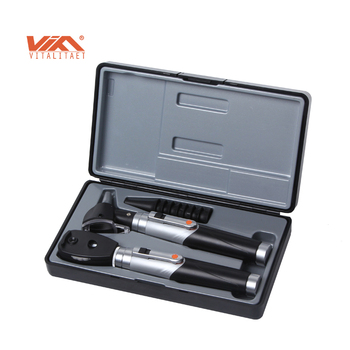 Promotional portable clinic otoscope and ophthalmoscope set