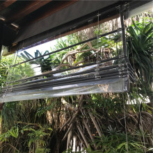Transparent waterproof PVC curtain outdoor clear roller blind PVC blind