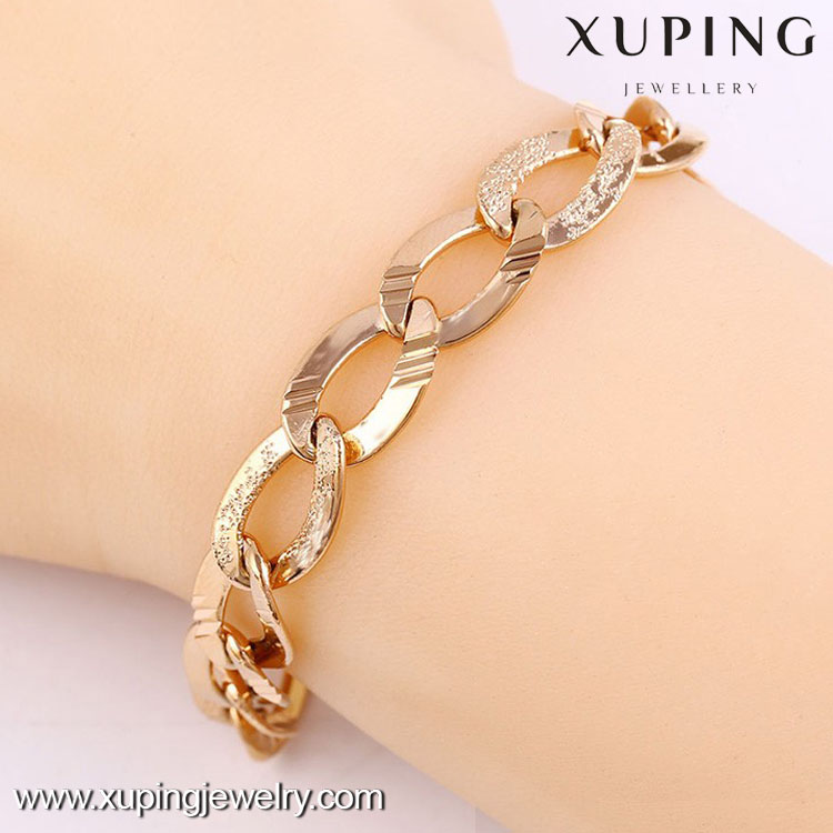 74228-Luxury popular rose gold design pendant jewelry,simple gold plated bracelet for women