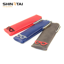 Products Manufacturer Zipper Optical Glasses Pouch Cases With Pu Leather