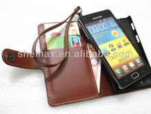 Wallet Case for Samsung Galaxy S2 I9100 with stand for 9100 ID card protective cover