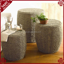 New creative natural seagrass woven storage stool / storage ottoman