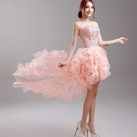 Prom Dress/Matric Farewell Solid Lace Above Knee Evening Dress