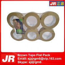 brown color and clear transparent bopp packaging tapes
