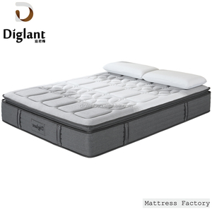 Diglant Pillow Top 5 Zones Gel Memory Foam Natural Latex Bed Pocket Spring Coil Mattress