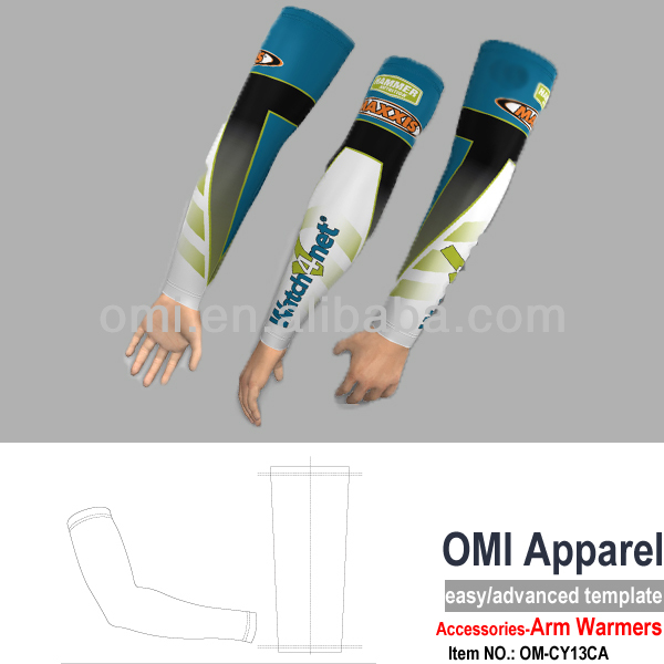 Custom sublimation printing cycling UV protective Compression Custom Arm sleeves