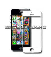 China 2013 most popular new mobile accessory tempered glass blank an d white screen protector for iphone4 with high quality best