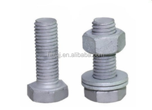 Carbon Steel/Galvanized DIN933 DIN931 ASTM A325 A490 B7 B8 High Strength Heavy Hex Head hex bolts hot dip galvanizing grade 8.8