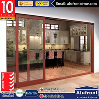 interior double glass french sliding door