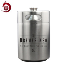 Best Bachelor Party Gift Food Grade carbonated mini 2 litre beer keg with laser printing