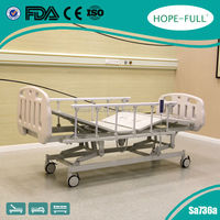 Height Adjustable Hospital care bed with 3 motors