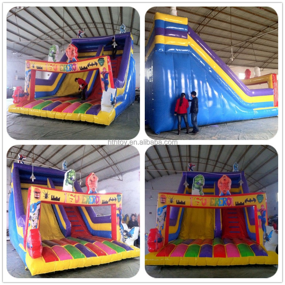 PVC inflatable bounce house with water slides
