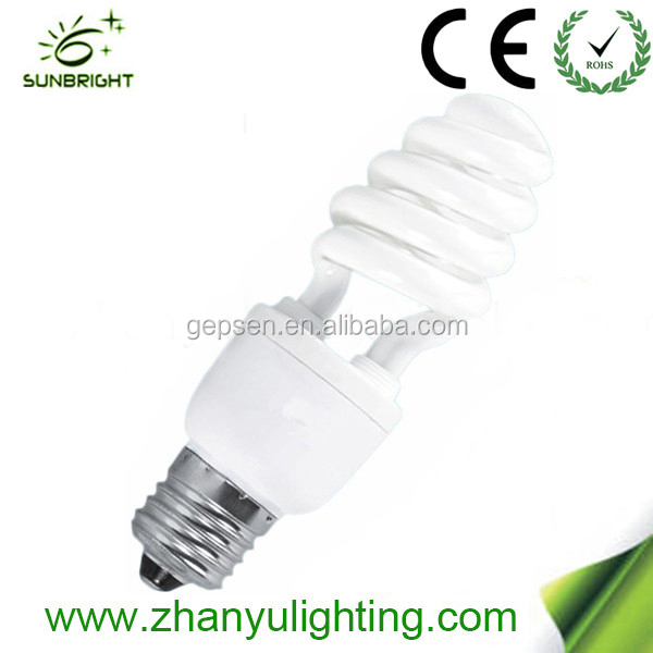 High efficiency 9mm half spiral lamp bulbs energy saving bulb 11w made in China