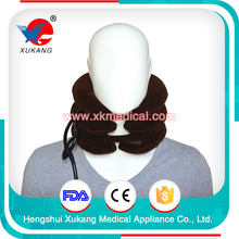 high quality flannel and latex material neck support (type IV), 2017 hot three gas tubes and full of flannel cervical collar