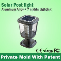 Fancy Main Gate Pillar Light Solar Powered,Led Garden Gate Light