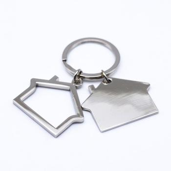 Custom house shaped keychain