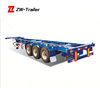 High Quality Good Price 3 Axles 40ft Skeleton Container Semitrailer with 12 Twist Locks