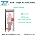 High tech walk pass metal detector PD6500i archway security gate