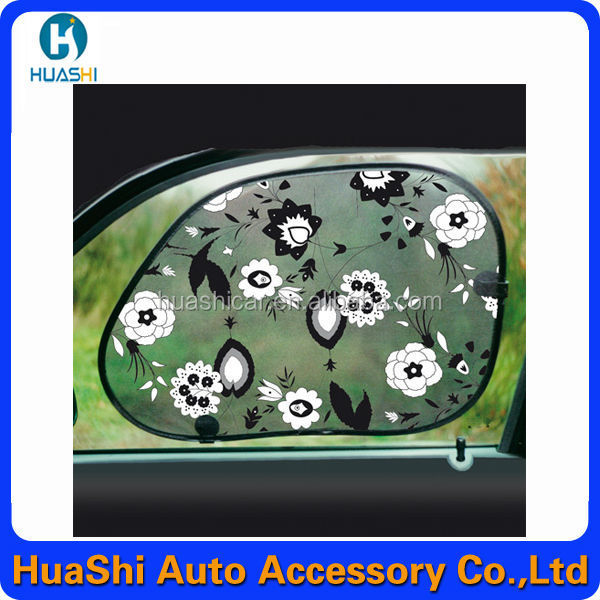 car sun shade window sunshade screen mesh side foldable with machine pressing printing