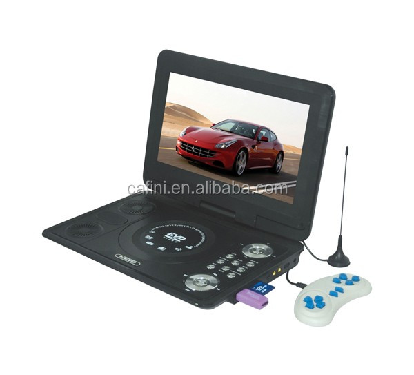Car charger outdoor cheap portable DVD player with digital TV tuner