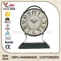 Hot Sale Various Design Customized Oem Antique Iron Metal Table Clock