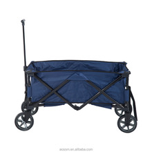 Outsunny Blue Collapsible Folding Utility Wagon Garden Cart