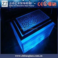 ktv bar dedicated a luminous glass table