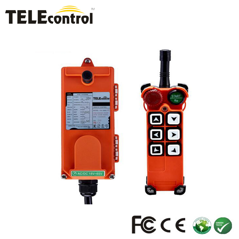 1 set china manufacturer industrial radio remote control for crane 6 single speed buttons F21-E2 one transmitter one receiver