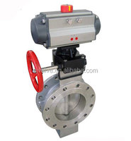 High qualily Pneumatic actuator with the wafer butterfly valve