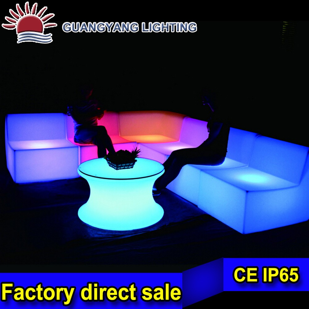nightclub decoration LED light sofa / plastic LED bar chairs / LED light up outdoor furniture