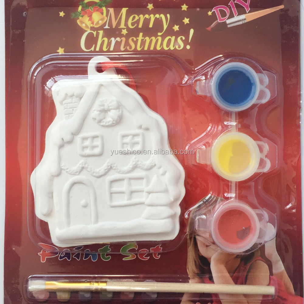 Christmas house diy toys for Color Painting,diy toys for children,funny christmas toys
