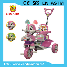 new children tricycle with musical flashing rubbit face and soft ear