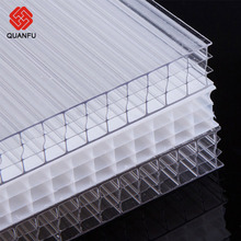 Certified By Iso 9001:2000 Bayer lexan Hollow Polycarbonate Four-wall Sheet