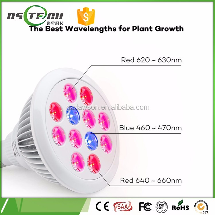 E27 CE RoHS High quality 7W 9W 12W 24w 36w PAR38 LED Grow Lights Hydroponic Aquarium LED Grow light Vegetable Plant Grow light