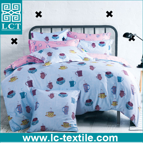 wholesale bulk unique patterns design super soft cotton cat print bedding set