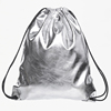 Fashion Metallic Silver and Gold PU Leather Waterproof Drawstring Dust Pouch Backpack Bag