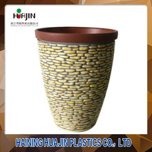 China particular design planters plastic small rock flower pots