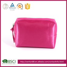 fashion wholesale red Support ODM OEM satin women girls business factory make cosmetic bag