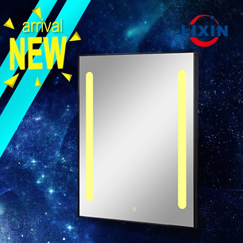 LiXin custom touch switch LED light makeup mirror bathroom decorate wall mirror and the lamp