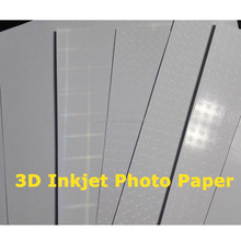 Vivid 3D effect high gloss 115gsm-250gsm inkjet photo printing paper