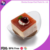 Oem eco-friendly bpa free disposable elegant party sushi plate plastic candy container