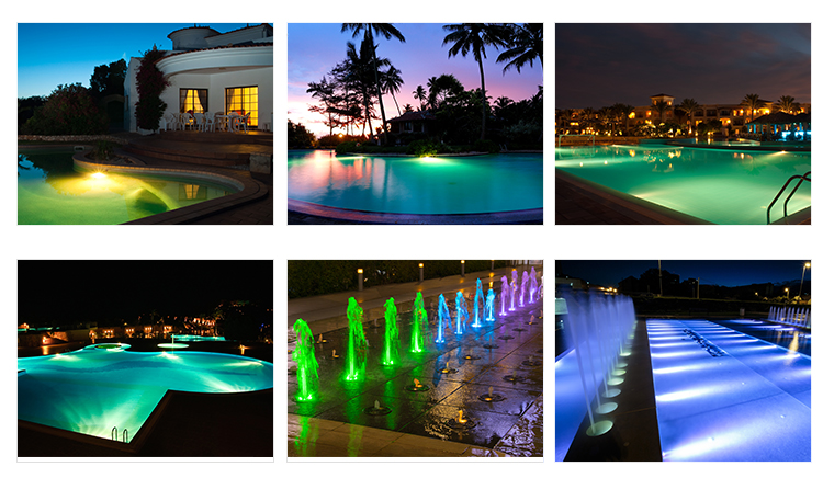 Pool led light factory direct sell multi color waterproof led RGB recessed swimming pool light
