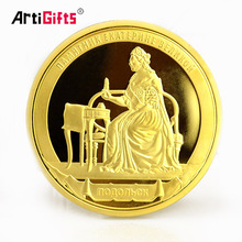 Stainless Steel Golden Event Personalized Russian Double Sided Angel Novelty Coin