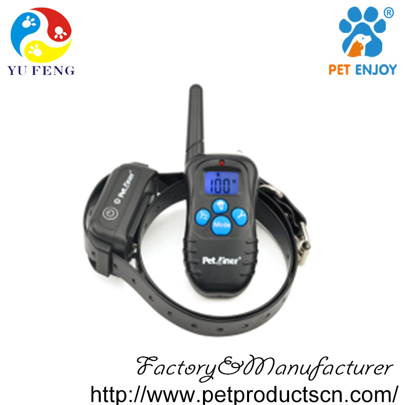 Shenzhen PET factory YuFeng E-998DR 300M LCD Remote training collars with Rechargeable and Waterproof for dog
