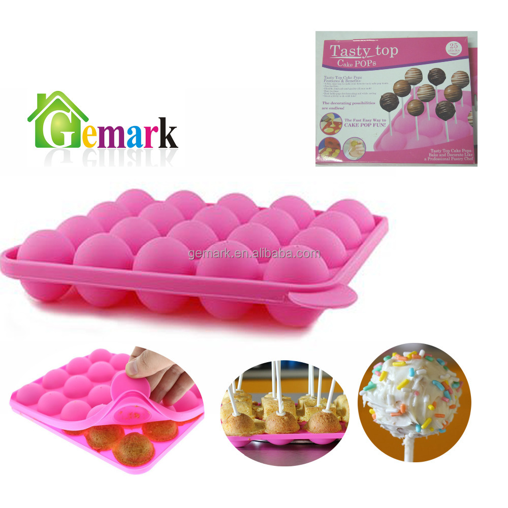 FDA LFGB Silicone Cake Pops 3D Silicone Molds Chocolate maker Lollipop mould