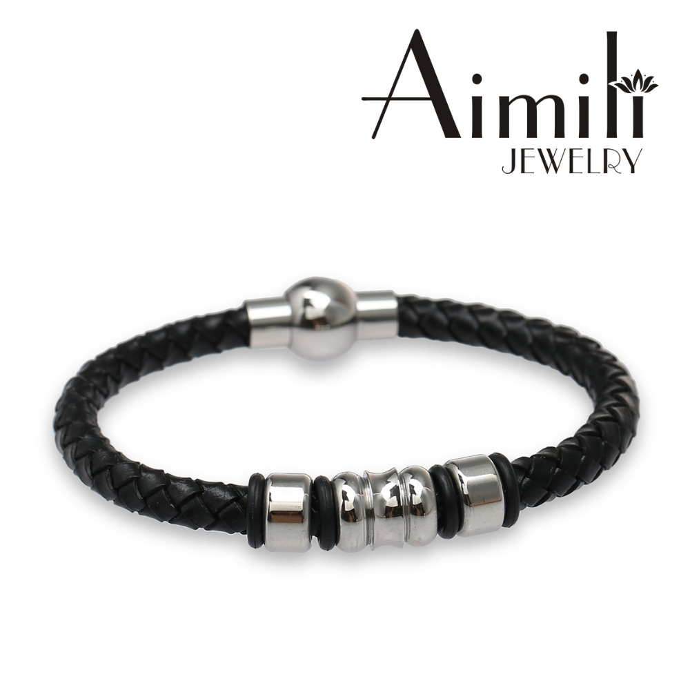 LT22 2016 Fashion Mens Genuine Leather Bracelet Wholesale Personalised Jewellery
